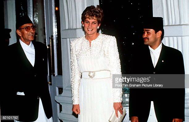 Diana Princess Of Wales With Crown Prince Dipendra Of Nepal