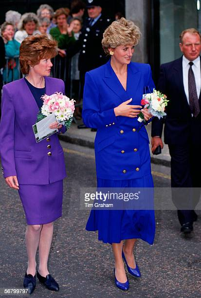Diana Princess of Wales with her sister and LadyinWaiting Sarah McCorquodale