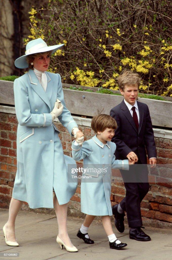 Diana William Peter Phillips : News Photo
