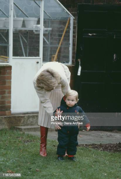 Diana Princess of Wales with her son Prince William during a photocall at Kensington Palace in London 14th December 1983