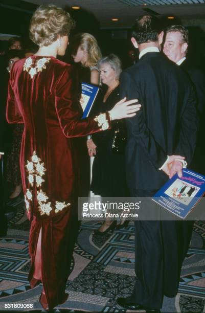 Diana Princess of Wales with Prince Charles at the premiere of the film 'Steel Magnolias' at the Odeon Leicester Square in aid of the Prince's Trust...