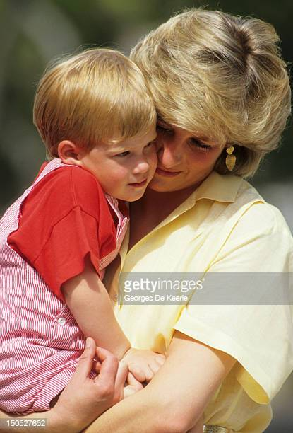 Diana Princess of Wales leaves the Lindo Wing of St Mary's Hospital following the birth of Prince Harry on September 17 1984 in London England
