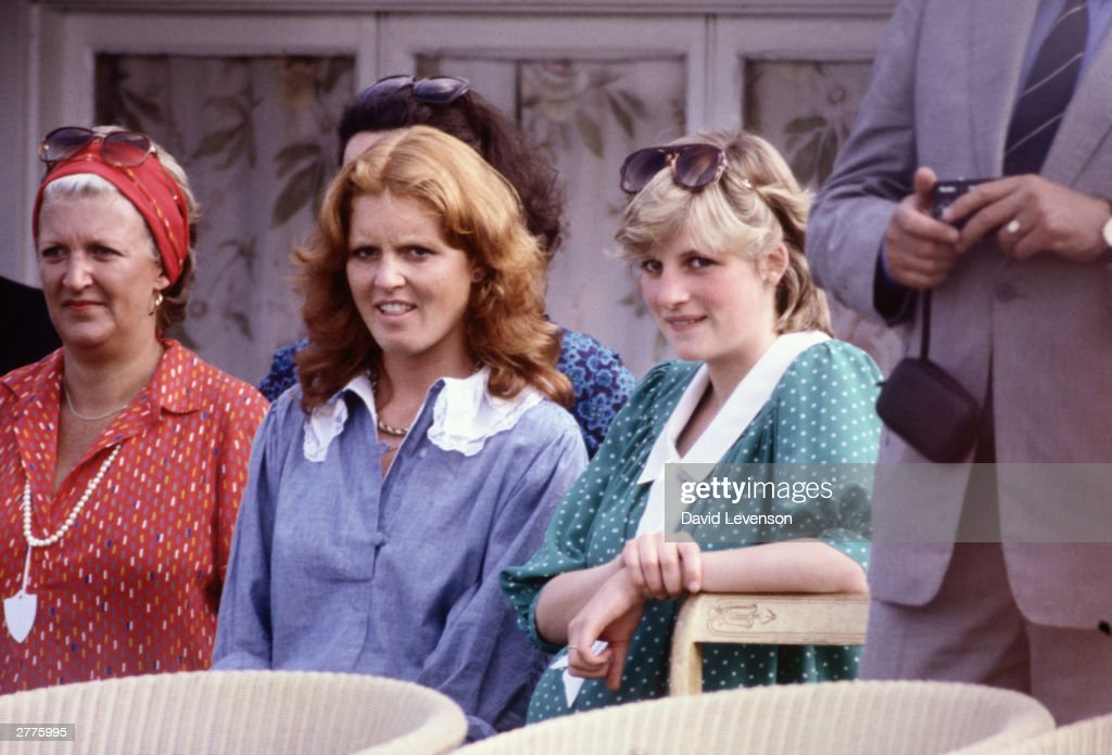 Diana Princess of Wales with Sarah Ferguson (later the Duchess of York) : News Photo