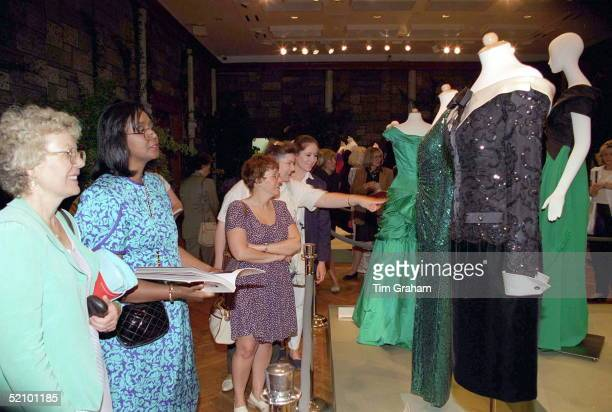 Diana Princess Of Wales's Dresses On Display At Christie's New York Prior To The Sale