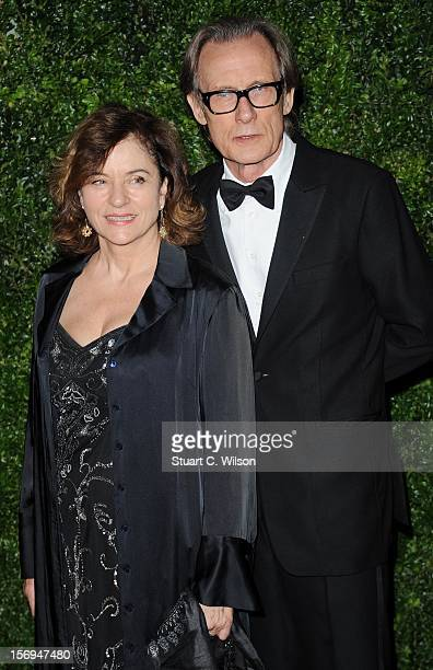 Diana Quick and Bill Nighy attend the 58th London Evening Standard Theatre Awards in association with Burberry on November 25 2012 in London England
