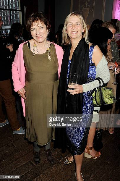 Diana Quick and Phillipa Walker attend a party celebrating the launch of Twiggy For MS Women at Home House on April 12 2012 in London England
