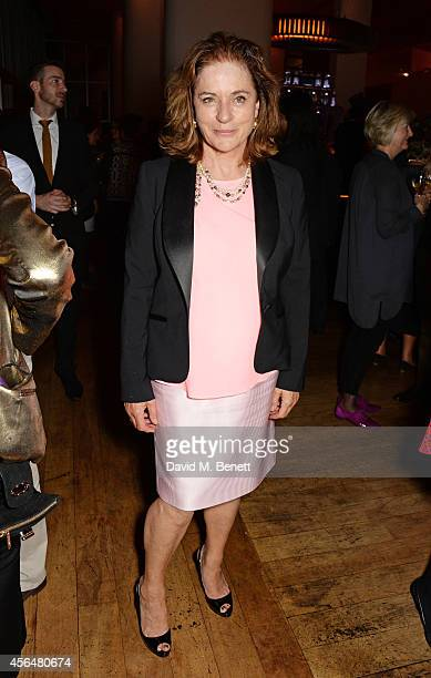 Diana Quick attends an after party following the press night performance of Electra playing at The Old Vic at Skylon Grill on October 1 2014 in...