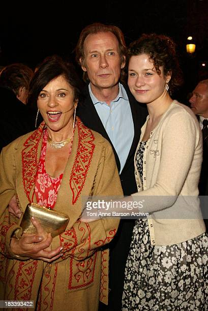 Diana Quick Bill Nighy and daughter during Love Actually Premiere Paris at UGC Normandy Champs Elysees in Paris France