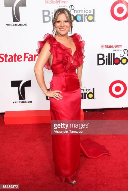 Diana Reyes arrives at 2009 Billboard Latin Music Awards at Bank United Center on April 23 2009 in Miami