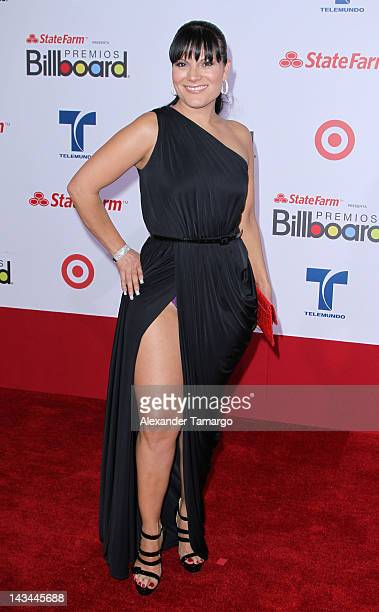 Diana Reyes arrives at Billboard Latin Music Awards 2012 at Bank United Center on April 26 2012 in Miami Florida