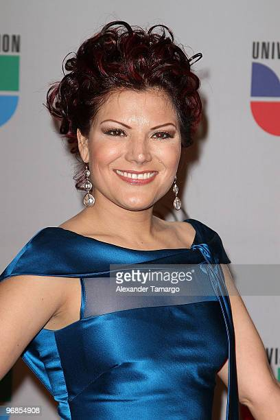 Diana Reyes arrives at Univision's 2010 Premio Lo Nuestro a La Musica Latina Awards at American Airlines Arena on February 18 2010 in Miami Florida