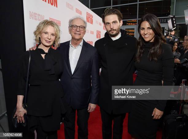 Diana Rhodes Barry Levinson Sam Levinson and Ashley Levinson arrive at the Los Angeles Premiere of Assassination Nation at ArcLight Cinerama Dome on...