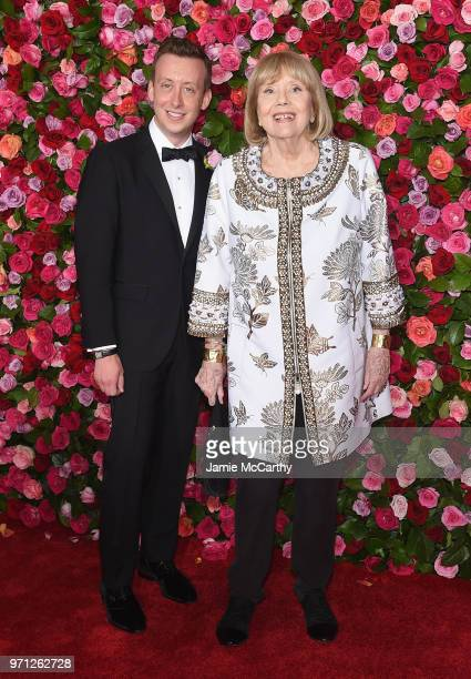 Diana Rigg attends the 72nd Annual Tony Awards at Radio City Music Hall on June 10 2018 in New York City