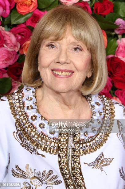 Diana Rigg attends the 72nd Annual Tony Awards on June 10 2018 at Radio City Music Hall in New York City