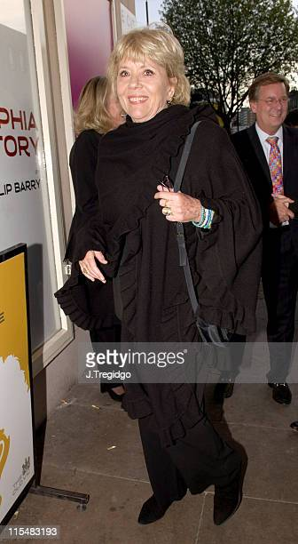 Diana Rigg during 'The Philidelphia Story' Arrivals at The Old Vic in London Great Britain