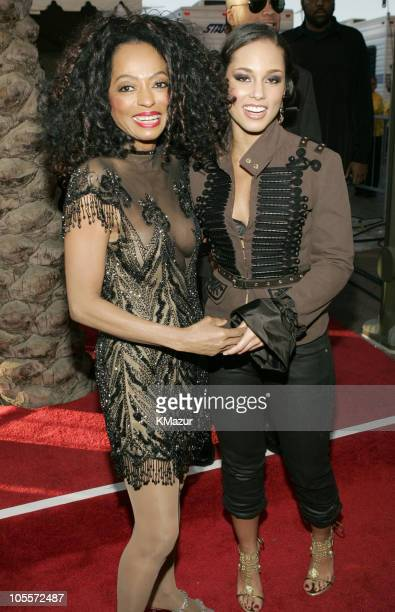 Diana Ross and Alicia Keys during 32nd Annual American Music Awards Red Carpet at Shrine Auditorium in Los Angeles California United States