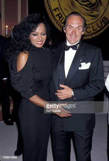 Diana Ross and Arne Naess during Friars Club Tribute To Diana Ross at Waldorf Astoria in New York City NY United States