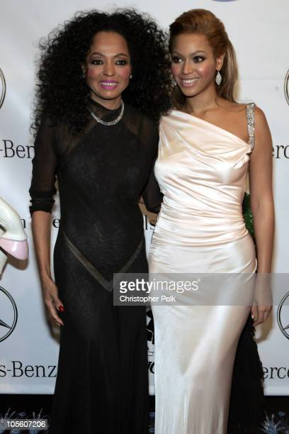 Diana Ross and Beyonce during 16th Carousel of Hope Benefit Gala Presented by Mercedes Benz VIP Reception at The Beverly Hilton in Beverly Hills...