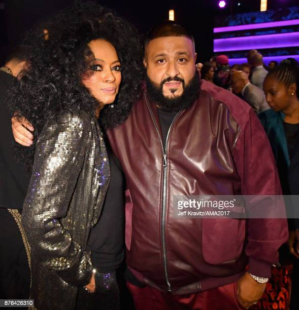 Diana Ross and DJ Khaled attend the 2017 American Music Awards at Microsoft Theater on November 19 2017 in Los Angeles California