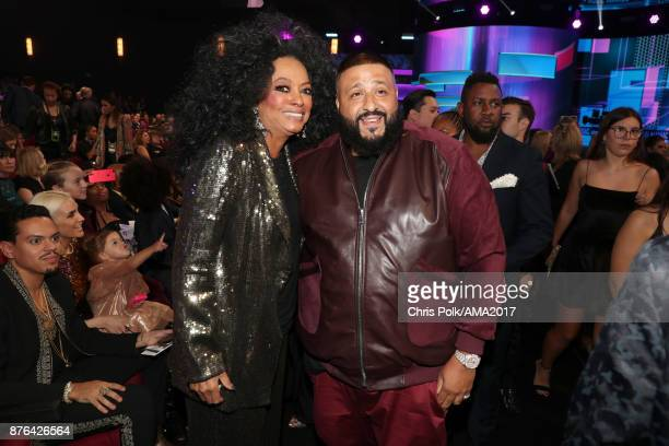 Diana Ross and DJ Khaled during the 2017 American Music Awards at Microsoft Theater on November 19 2017 in Los Angeles California
