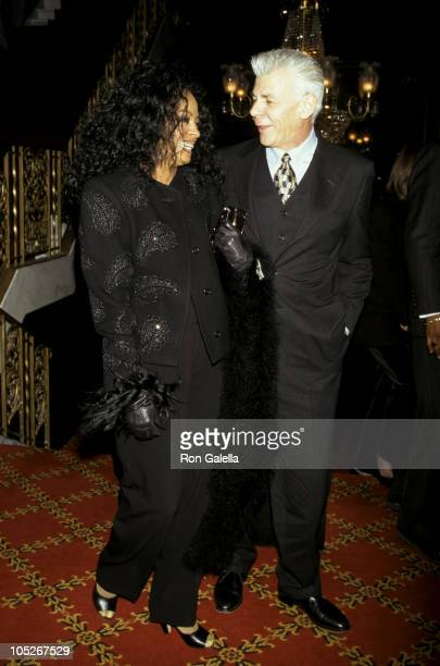 Diana Ross and Ed Limato during Premiere of 'The Mirror Has Two Faces' at Ziegfeld Theater in New York City New York United States