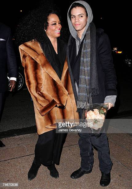 Diana Ross and Evan Ross at the Streets of Manhattan in New York City New York