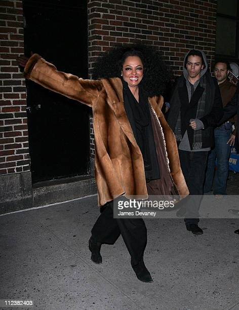 Diana Ross and Evan Ross during Diana Ross Visits The Late Show with David Letterman January 16 2007 at Streets of Manhattan in New York City New...