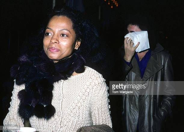 Diana Ross and Gene Simmons walking on 3rd Avenue during Diana Ross Walking on 3rd Avenue December 9th 1981 in New York City United States