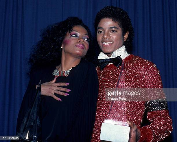 Diana Ross and Michael Jackson at the American Music Awards circa 1981 in Los Angeles California