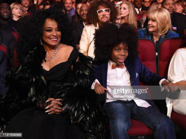 Diana Ross and RaifHenok Emmanuel Kendrick attend Motown 60 A GRAMMY Celebration at Microsoft Theater on February 12 2019 in Los Angeles California