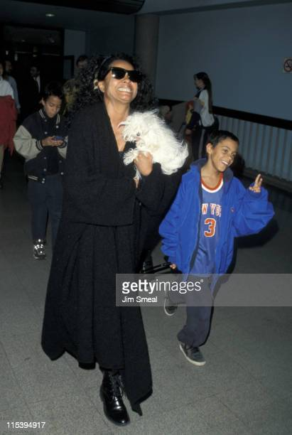 Diana Ross and son Ross Arne Naess during Diana Ross Arriving at LAX from New York City March 12 1999 at Los Angeles International Airport in Los...