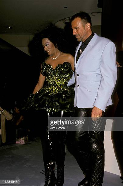 Diana Ross and Thierry Mugler during Thierry Mugler And Saks Fifth Avenue Host A Charity Evening To Benefit AmFar September 20 1993 at Saks Fifth...