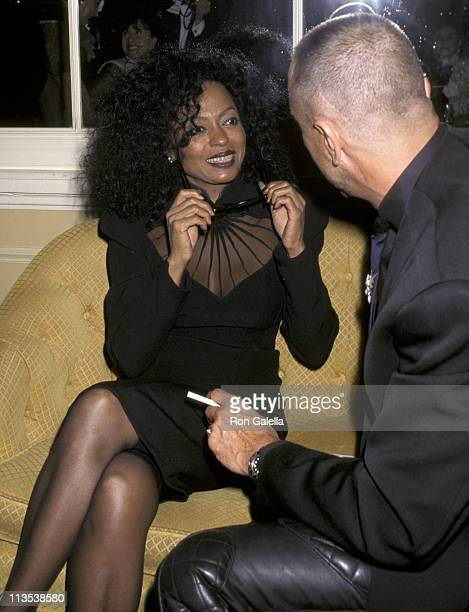 Diana Ross and Thierry Mugler during Wedding Reception For Ivana Trump And Riccardo Mazzucchelli at L'Orangerie of Le Cirque in New York City New...