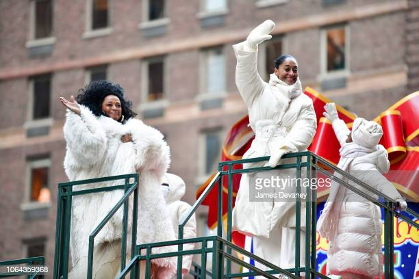 Diana Ross and Tracey Ross attend the 92nd Annual Macy's Thanksgiving Day Parade on November 22 2018 in New York City