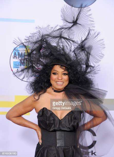 Diana Ross arrives at the 2017 American Music Awards at Microsoft Theater on November 19 2017 in Los Angeles California