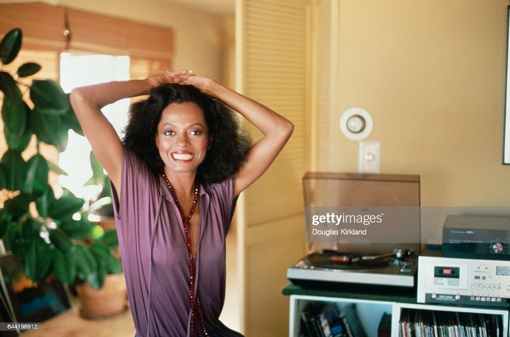 Diana Ross at Home : Foto jornalística