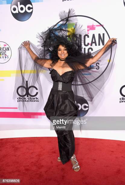 Diana Ross attends 2017 American Music Awards at Microsoft Theater on November 19 2017 in Los Angeles California