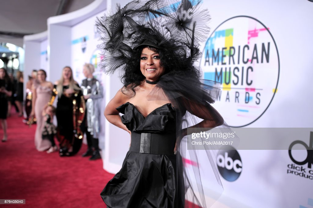 Diana Ross attends the 2017 American Music Awards at Microsoft Theater on November 19, 2017 in Los Angeles, California.