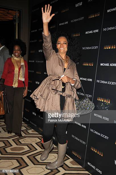 Diana Ross attends THE CINEMA SOCIETY MICHAEL KORS host a screening of 'IRON MAN' at Tribeca Grand Hotel on April 28 2008 in New York City