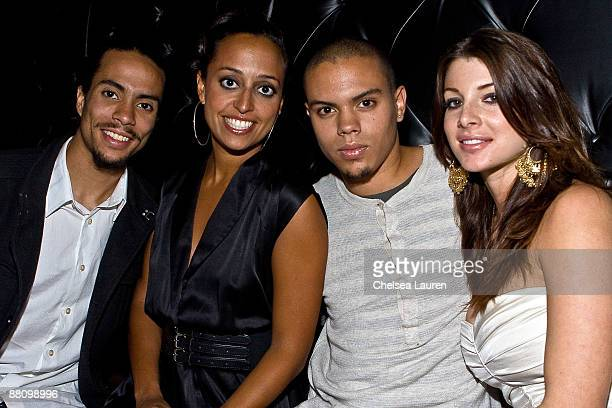 Diana Ross' children Ross Arne Naess Chudney Lane Ross Evan Ross Naess and model Cora Skinner attend the MTV Movie Nominee after party for Johnathon...