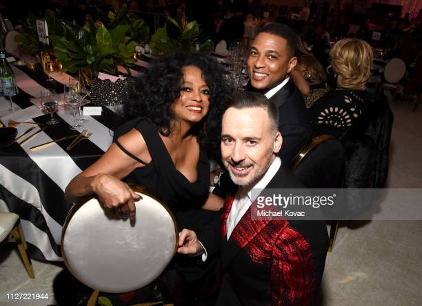Diana Ross David Furnish and Don Lemon attend the 27th annual Elton John AIDS Foundation Academy Awards Viewing Party sponsored by IMDb and Neuro...