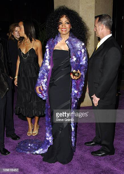 Diana Ross during 2006 Clive Davis PreGRAMMY Awards Party Arrivals at Beverly Hilton in Beverly Hills California United States