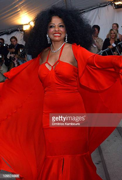 Diana Ross during Costume Institute Benefit Dance 'Party of the Year' Arrivals at Metropolitan Museum of Art in New York City New York United States