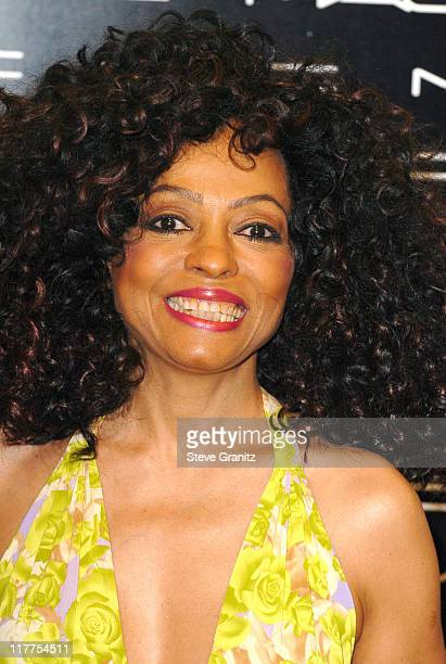 Diana Ross during Diana Ross Launches Her MAC Icon Collection at MAC Beverly Hills Store at MAC Beverly Hills Sore in Beverly Hills California United...