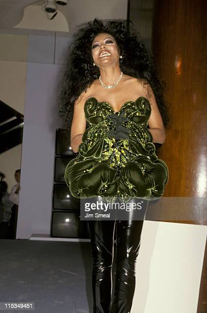 Diana Ross during Thierry Mugler And Saks Fifth Avenue Host A Charity Evening To Benefit AmFar September 20 1993 at Saks Fifth Avenue in New York...