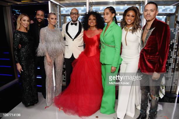 Diana Ross her family Eve and Swizz Beatz backstage during the 61st Annual GRAMMY Awards at Staples Center on February 10 2019 in Los Angeles...