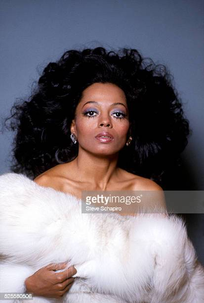 Diana Ross in White Fur