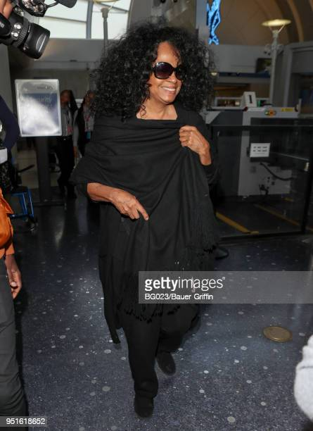 Diana Ross is seen at LAX on April 26 2018 in Los Angeles California