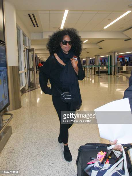 Diana Ross is seen at Los Angeles International Airport on January 13 2018 in Los Angeles California