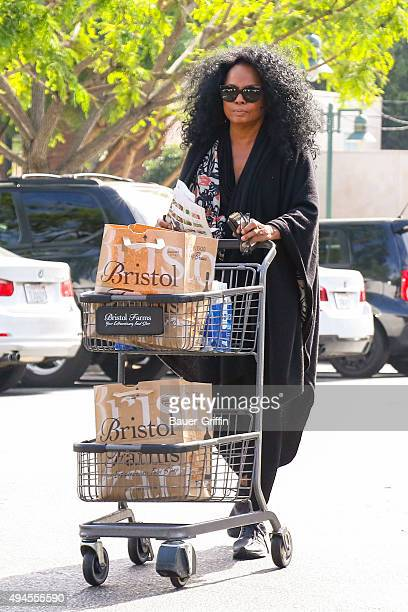 Diana Ross is seen leaving Bristol Farms grocery store on October 27 2015 in Los Angeles California